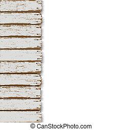 bois, vecteur, vieux, fond, barrière