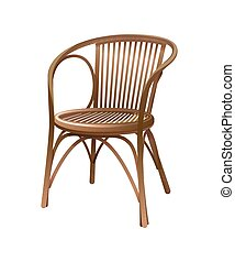 bois, vendange, chaise