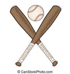 bois, vendange, chauve-souris, base-ball