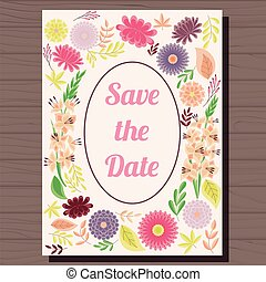 bois, vendange, mariage, automne, fond, invitation