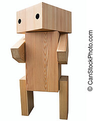 bois, vendange, robot