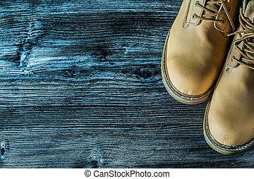 bois, vendange, sécurité, planche, bottes