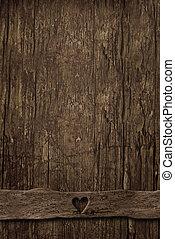 bois, vide, vieux, fond, vertical
