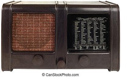 bois, vieux, coupure, radio
