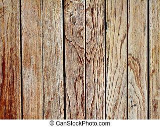 bois, vieux, grunge, mur