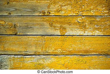 bois, vieux, jaune, texture