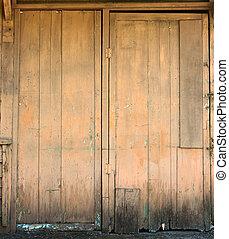 photo de stock de porte bois hangar vieux ferm hangar porte d cliner csp2603022. Black Bedroom Furniture Sets. Home Design Ideas