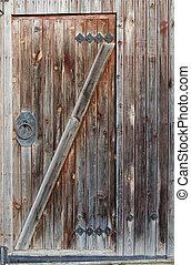 bois, vieux, porte