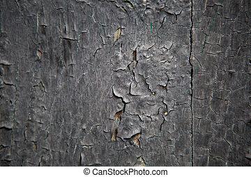 bois, vieux, pourpre, peint, partie, porte