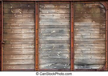 bois, vieux, texture