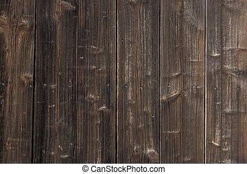 bois, vieux, très, fond, porte, grange, vendange