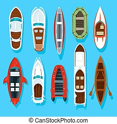 bois, voilier, bateaux, manettes, pêcheur