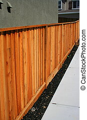 bois, yard, barrière