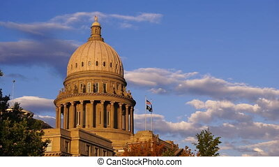 Boise Idaho Capital City Downtown Capitol Building...