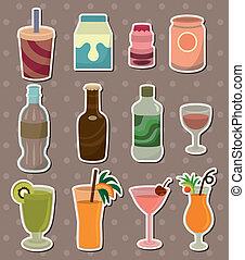 boisson, autocollants