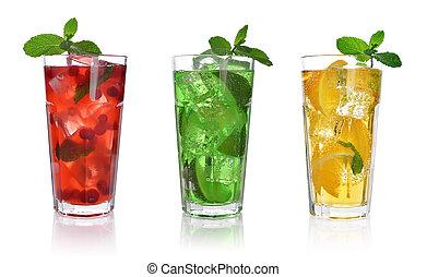 boisson, baie, rouges
