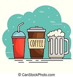boisson chaude, conception, froid