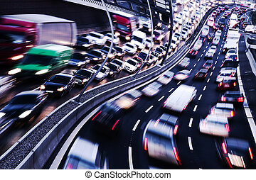 boisson commande, (cars, sur, highway)