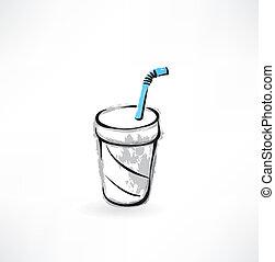 boisson, grunge, icône
