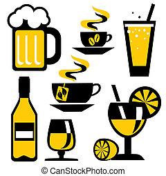 boisson, icônes