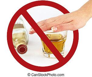 boisson, non, signe