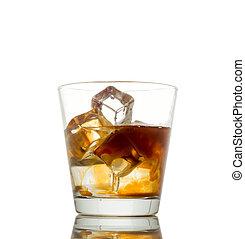 boisson, russe, arrière-plan noir, mélangé, blanc
