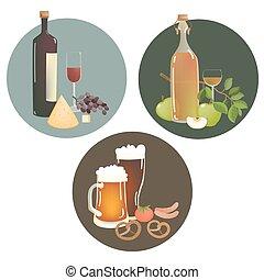 boissons, alcool, collations