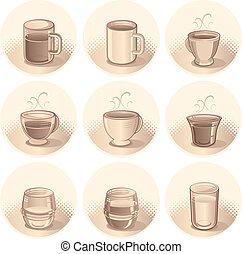boissons, icônes