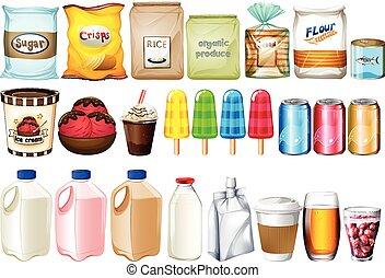 boissons, nourritures, groupe