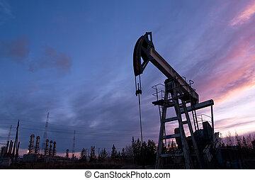 bojiště, nafta