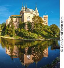 Bojnice Castle with a Moat (Slovakia)