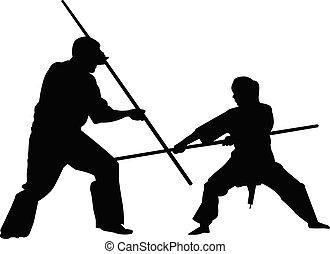 bojowy, sylwetka, lekkoatletyka