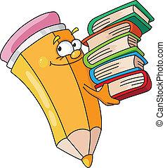 bokälskande, blyertspenna