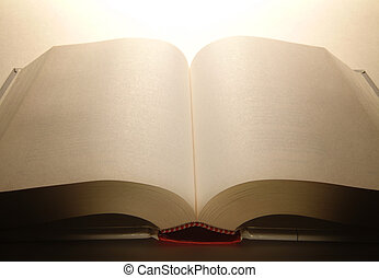 bok, öppnat