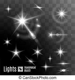 bokeh, étoile, clair