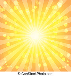 bokeh, 抽象的, ライト, 上に, sunburst, パターン