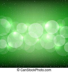 bokeh, 緑, 背景