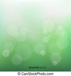 bokeh, 緑, blurry 背景