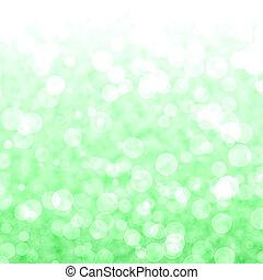 bokeh, 震動, 綠色的背景, 由于, 模糊, 光