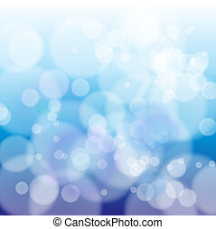 Bokeh abstract light background - Blue bokeh abstract light...