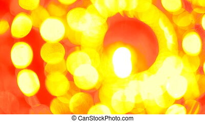 bokeh abstract orange yellow