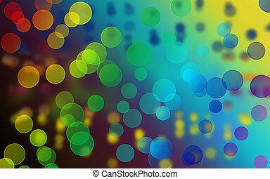 bokeh, abstrakt, bakgrund, colorfull