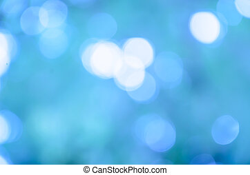 Bokeh and light blue color background
