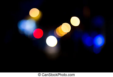 Bokeh at night in the city as a background