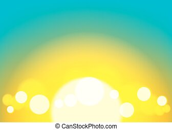 Bokeh background, abstract with defocused lights.