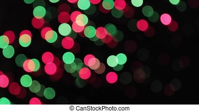 bokeh background. Blinking Garland Multicolored Abstract...