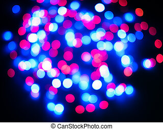 Bokeh background - Colored red and blue color bokeh ...