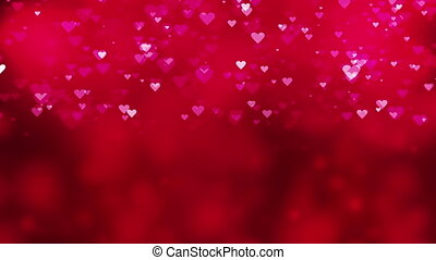 Bokeh background with falling heart