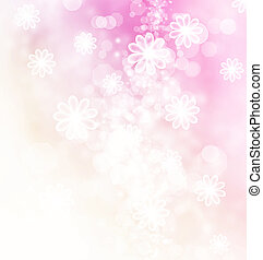 bokeh, blüten, abbildung