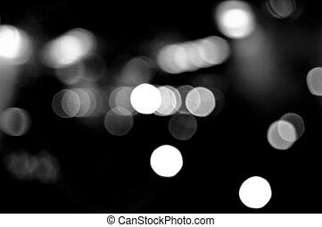 bokeh, black , witte achtergrond